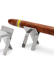 Stainless Steel Foldable Cigarette Stand Holder Showing Portable Cigar Ashtray