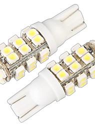 t10 w5w 168 194 Blinkerseite Keil-Lampe Lampe weiß 28 SMD-LED-Licht (12v, 2 Stück)