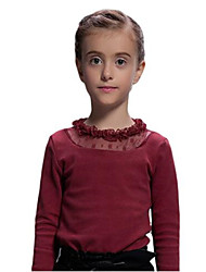 Girl's Red Blouse,Lace Cotton Spring / Fall