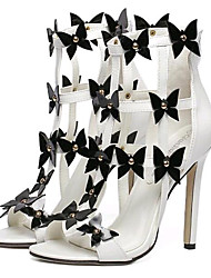 Women's Shoes Leatherette Stiletto Heel Heels Sandals Party & Evening White