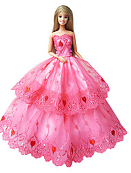 Princesse Robes Pour Poupée Barbie Rose Robes Pour Fille de Doll Toy