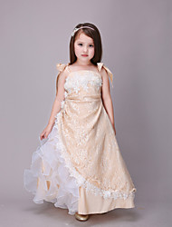Girl's Gold Dress,Lace Polyester Summer