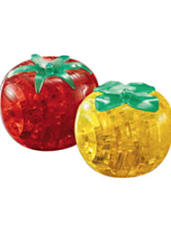 Puzzles 3D - Puzzle / Kristallpuzzle Bausteine DIY Spielzeug Tomate ABS Rot / Gelb Model & Building Toy