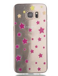 Para Samsung Galaxy S7 Edge Transparente / Estampada Capinha Capa Traseira Capinha Estampa Geométrica TPU SamsungS7 edge / S7 / S6 edge /