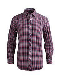 JamesEarl Masculino Colarinho de Camisa Manga Comprida Shirt & Blusa Vermelho - MB1XC000501