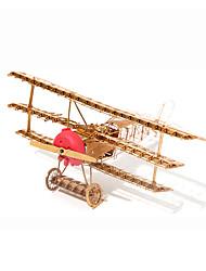 Puzzles Puzzles 3D / Puzzles en Métal Building Blocks DIY Toys Avion Métal Doré Maquette & Jeu de Construction