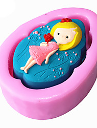 Girl  Shaped  Soap Molds Mooncake Mould Fondant Cake Chocolate Silicone Mold, Decoration Tools Bakeware