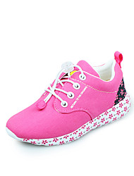 Girls' Shoes Casual / Athletic Canvas Spring / Summer / Fall Comfort / Closed Toe Flat Heel Flower / Gore Pink