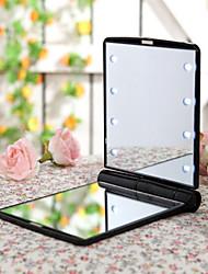 Espelho Plastic / Metal 1 Quadrar 13*9*2 Normal Preta / Azul / Roxa / Rosa / Branco