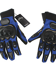 Pair Cycling Bicycle Motorcycle Outdoors Sports Full Finger Gloves Blue M Model 1