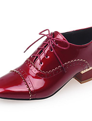 Women's Shoes Low Heel/Square Toe Oxfords Office & Career/Dress/Casual Black/Red/White/Almond