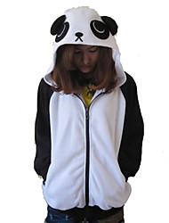 Kigurumi Pyjamas Panda Gymnastikanzug/Einteiler Fest/Feiertage Tiernachtwäsche Halloween Schwarz/Weiß Patchwork Polar-Fleece Kigurumi Für