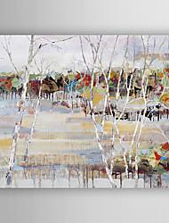 Pintados à mão Paisagem / Paisagens AbstratasModerno 1 Painel Tela Pintura a Óleo For Decoração para casa