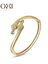 18k Gold /Silver Crystal Bracelet Bangle Jewelry for Lady