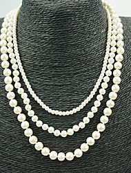 Three Layer Pearl Layered Necklace Jewelry