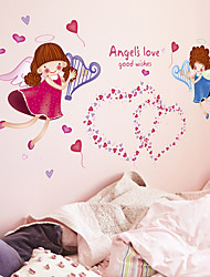 Wall Stickers Wall Decals, Cute Angel's Love Good Wishes PVC Wall Sticker