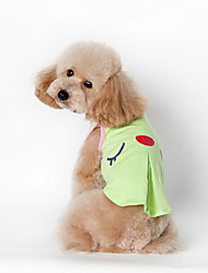 Perros Camiseta Verde / Rosado Verano Caricaturas Escocés / Moda, Dog Clothes / Dog Clothing-Lovoyager