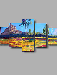 Hand-painted Textured Landscape Oil Paintings Palette Wall Art Picture Stretched Frame