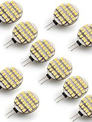 g4 0.9W 24 smd 3528 warme weiße, runde LED-Lampe 3000-3300k (dc 12 v, 10 Stück)