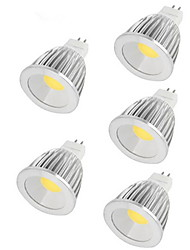 5pcs 7W MR16 550LM Warm/Cool White Light LED COB Spot Lights(12V)
