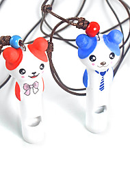 Dog Training Whistles Portable / Cute Red / Blue Ceramic