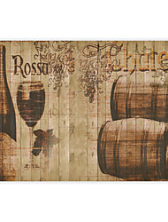 Shinny Leather Effect Large Mural Wallpaper Retro Beer And Cup Art Wall Decor Wall Paper