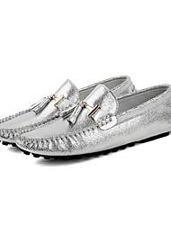 Zapatos de Hombre Mocasines Boda / Oficina y Trabajo / Vestido / Casual / Fiesta y Noche Nappa Leather Plata / Oro