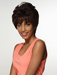 новый стильный пушистые человеческие волосы Remy руки связаны верхние парики для женщин