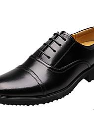 Sapatos Masculinos Oxfords Preto Couro Ar-Livre / Escritório & Trabalho