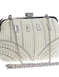 L.west Women Pearl Diamonds Evening Bag