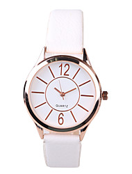Women's Dress Watch Fashion Watch Quartz PU Band White