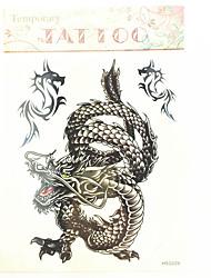 Séries Totem Tatuagem Adesiva - Estampado/Waterproof - para Masculino/Boy/Adulto/Adolescente - de Papel - Preta - #(23cm*20cm) #(1)