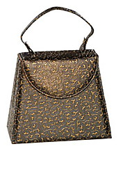 HQS PU Handbag Shape Jewelry Storage Box Wash Storage Shoulder Bag