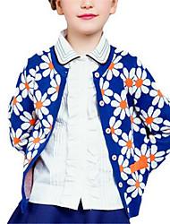 Girl's Sweater & Cardigan,Cotton Winter Blue / Orange