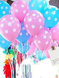 12 Zoll Hochzeitsdeko dot Ballon 100pcs / set (zufällige Farbe)