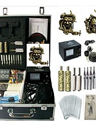 Basekey Tattoo Kit K0132 2Guns Machine With Power Supply Grips Cleaning Brush Needles