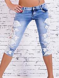 Pantalon Aux femmes Shorts Décontracté / Street Chic Polyester Micro-élastique