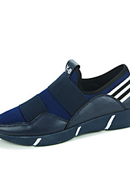 Men's Shoes Casual Fabric Loafers Black / Blue / Black and White