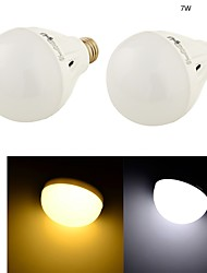 YouOKLight® 2PCS E27 7W 16*SMD5730 550LM White/ Warm White Light LED Energy saving High quality Globe Bulbs (AC 220V)