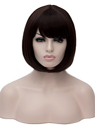 Most Popular Fashion Lady Black Color Short BoBo Straight Hair Wig Synthetic Wigs