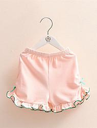 Girls Shorts Ruffled Cotton Short For Summer Children Loose Colorful Beach Bermudas Kids Casual Shorts Pants