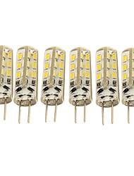 1.5W G4 LED a pannocchia T 24 SMD 3014 90 lm Bianco caldo / Luce fredda Decorativo DC 12 V 6 pezzi