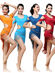Belly Dance Dresses Women's Training Modal Tassel(s) 1 Piece Light Blue / Orange / Burgundy / Dark Blue