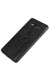 Für Samsung Galaxy Hülle Geprägt Hülle Rückseitenabdeckung Hülle Einheitliche Farbe PU - Leder Samsung A8 / A7