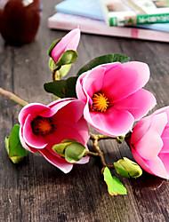 Silk Magnolia Artificial Flowers Wedding Flowers 1pc/set