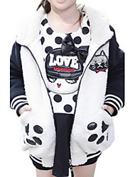 Girl's White Jacket & Coat Cotton Winter / Fall