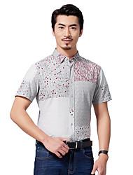 Sieben Brand® Herren Hemdkragen Kurze Ärmel Shirt & Bluse Rot-704A331713