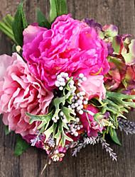 seda peônias rosadas e hortênsia flores artificiais 1pc / set