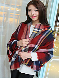 Plaid Knitted Thickening Big Scarf Autumn And Winter Warm Cashmere Scarves Shawls