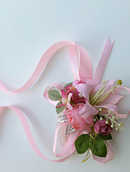 Exquisite Camellia Lily  Silk Bride Wedding Wrist Corsages